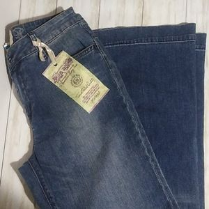"American Rag ""breakout"" distressed wide leg jeans"